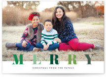 multi merry Holiday Photo Cards By Stacey Meacham