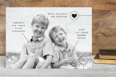 Conversational Stats Holiday Photo Cards