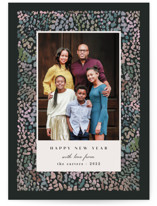 This is a green holiday photo card by Creo Study called Holiday splatter with standard printing on smooth signature in standard.
