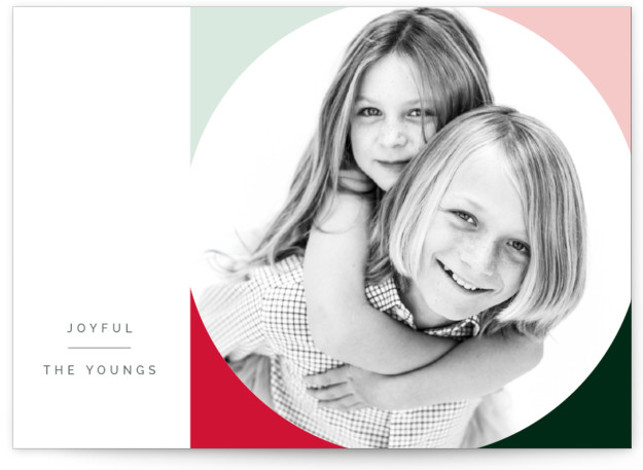 Bold Circle Holiday Photo Cards