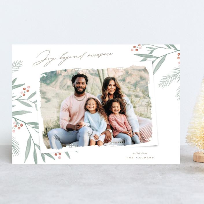 """Organic Harmony"" - Holiday Photo Cards in Rust by Oscar & Emma."