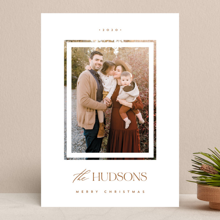 """""""Merry Doubled"""" - Holiday Photo Cards in Spice by Monika Drachal."""