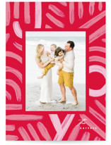 This is a red holiday photo card by Creo Study called finding joy with standard printing on smooth signature in standard.