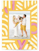 This is a yellow holiday photo card by Creo Study called finding joy with standard printing on smooth signature in standard.
