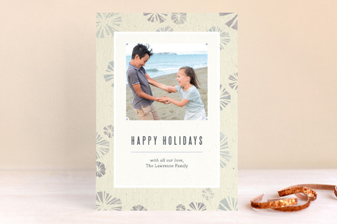 Stamped Snowflakes Holiday Photo Cards