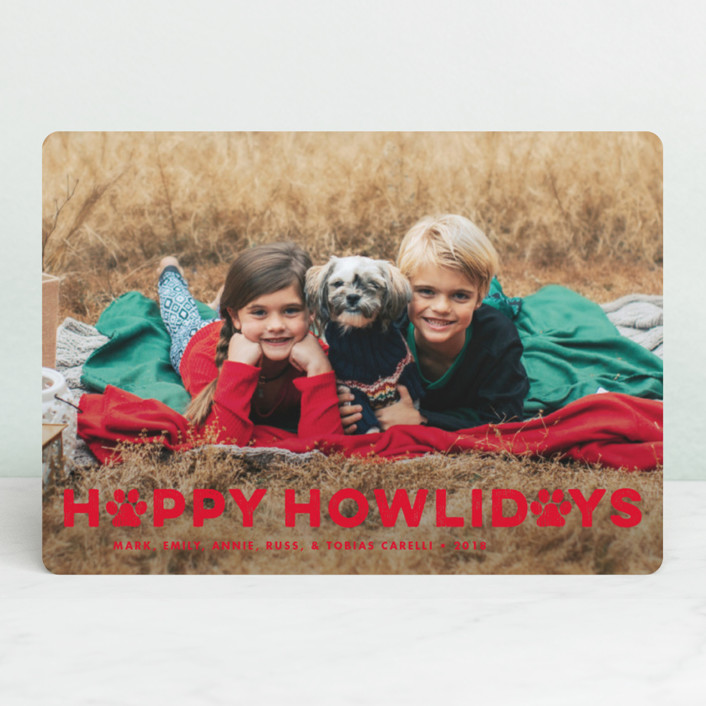 """""""Howliday Paws"""" - Holiday Photo Cards in Snow by Brooke Chandler."""