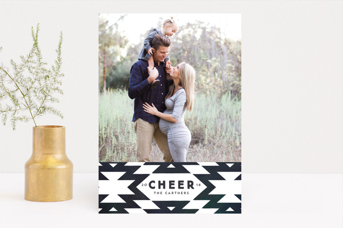 """""""festive nordic"""" - Holiday Photo Cards in Navy by Rebecca Durflinger."""