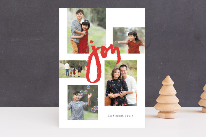"""Multitude of Joy"" - Holiday Photo Cards in Holly Berry by Jennifer Wick."