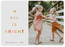 This is a beige holiday photo card by Morgan Kendall called Citrus with standard printing on smooth signature in standard.