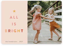 This is a pink holiday photo card by Morgan Kendall called Citrus with standard printing on smooth signature in standard.