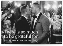 This is a brown holiday photo card by Annie Clark called Hearts Are Full with standard printing on recycled smooth signature in standard.