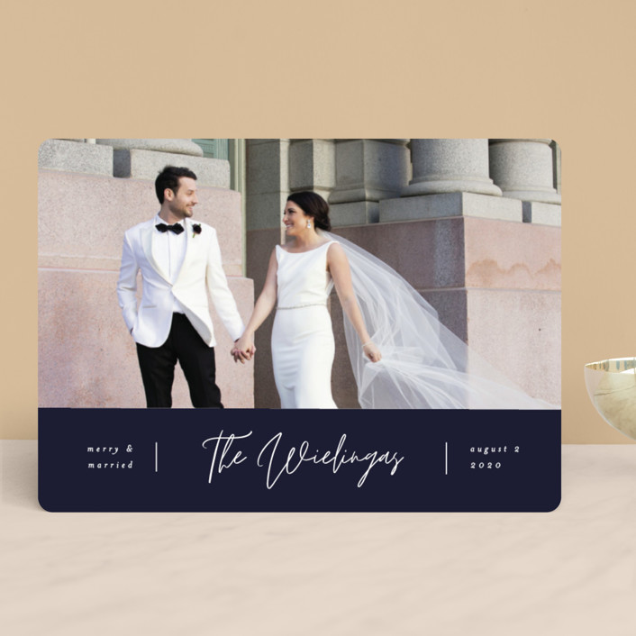 """""""Newly Married"""" - Holiday Photo Cards in Mountain by Pixel and Hank."""
