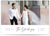 This is a black and white holiday photo card by Pixel and Hank called Newly Married with standard printing on smooth signature in standard.