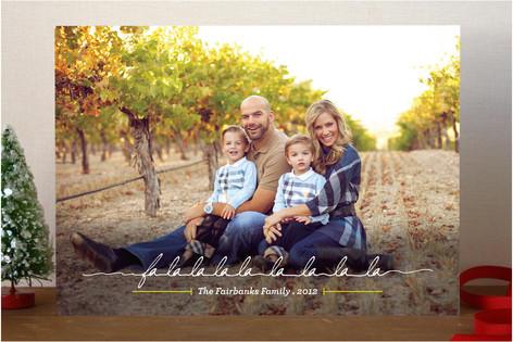 Falalalala La La La La Holiday Photo Cards