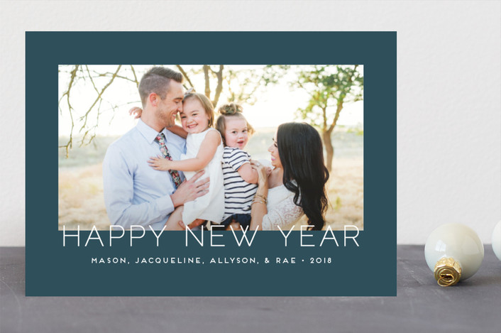 """""""Minimalistic Chic"""" - Holiday Photo Cards in Plum by jomolo."""