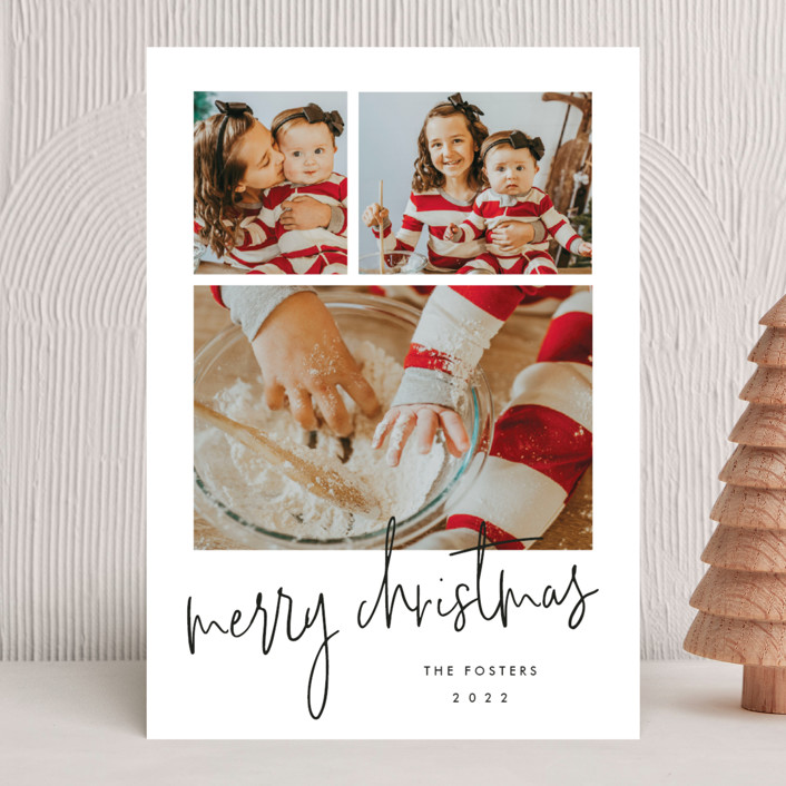 """""""Photo shoot"""" - Holiday Photo Cards in Cotton by Stacey Meacham."""