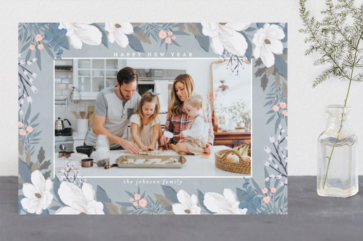 """Garden Frame"" - Holiday Photo Cards in Nightfall by Grace Kreinbrink."