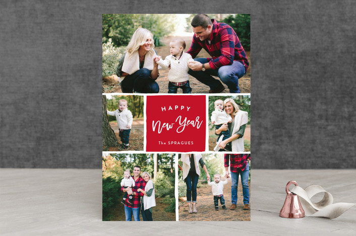 """""""Holiday Gallery"""" - Holiday Photo Cards in Scarlet by Sarah Curry."""