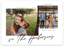 This is a black and white holiday photo card by That Girl Press called Snapshots with standard printing on smooth signature in standard.