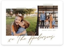 This is a brown holiday photo card by That Girl Press called Snapshots with standard printing on smooth signature in standard.