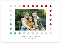 This is a green holiday photo card by Baumbirdy called Simple Dot Frame with standard printing on smooth signature in standard.