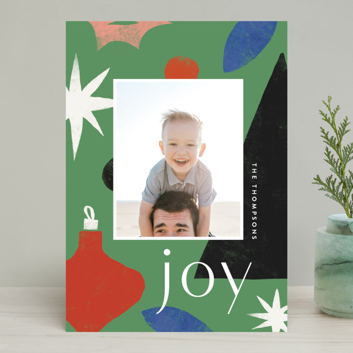"""""""Cut Tree"""" - Modern Holiday Photo Cards in Pine by Amy Kross."""