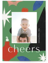 This is a green holiday photo card by Amy Kross called Cut Tree with standard printing on smooth signature in standard.