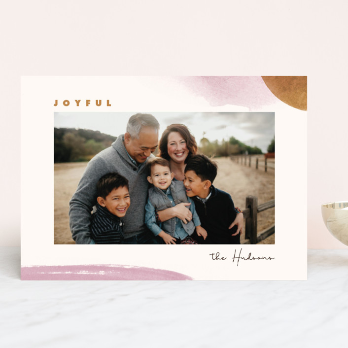 """""""Merry & Light"""" - Holiday Photo Cards in Sienna by Monika Drachal."""
