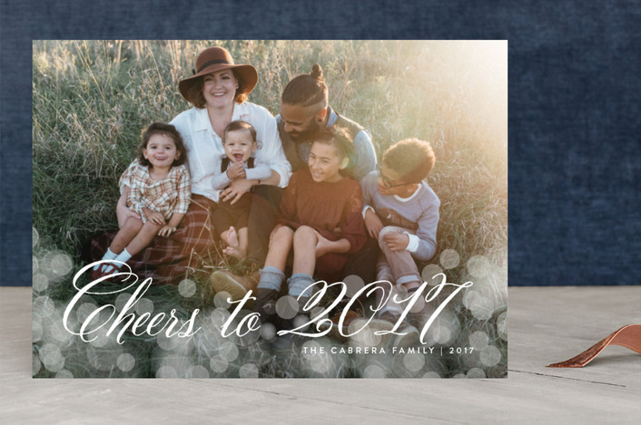 """""""Christmas Glow"""" - Holiday Photo Cards in Shadow by Design Lotus."""