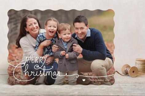 Handwritten Holidays Holiday Photo Cards