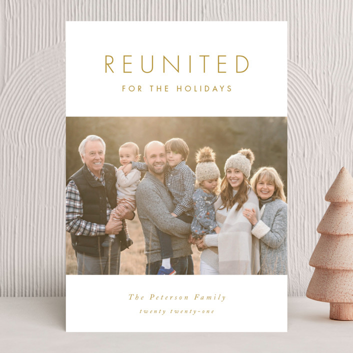 """""""Reunited"""" - Holiday Photo Cards in Snow by Catherine Culvenor."""