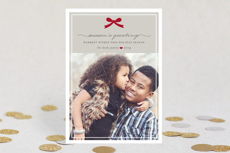 Paris + Vintage Ribbon Holiday Photo Cards