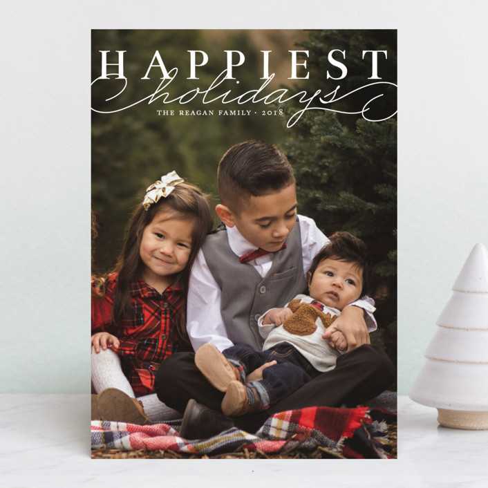 """Happiest Classic"" - Holiday Photo Cards in Snow by Alston Wise."