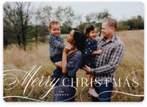 This is a white holiday photo card by Hooray Creative called Classical Christmas with standard printing on smooth signature in standard.