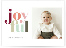 Festive joyful Holiday Photo Cards By Hudson Meet Rose