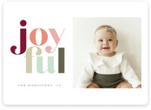 This is a green holiday photo card by Hudson Meet Rose called Festive joyful with standard printing on smooth signature in standard.