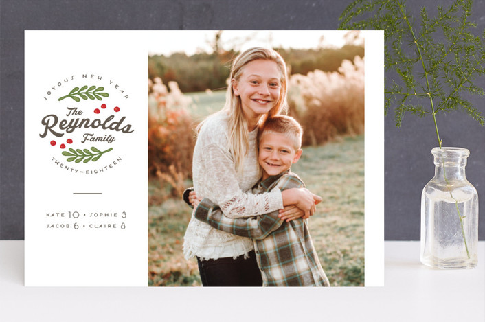 """All Together"" - Holiday Photo Cards in Emerald by Lorent and Leif."