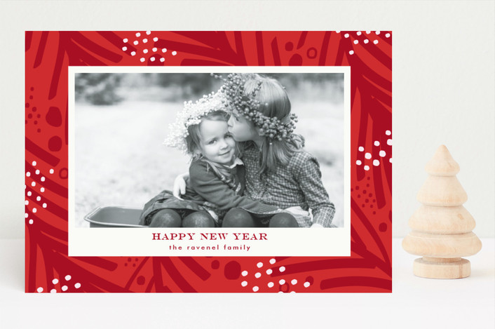 """Sprinkled"" - Holiday Photo Cards in Berry by lena barakat."