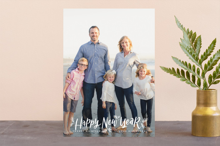 """""""Making Spirits Oh So Bright"""" - Holiday Photo Cards in Snowflake by Wildfield Paper Co.."""