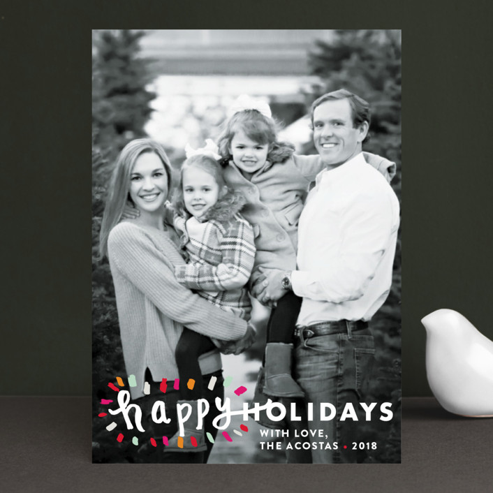 """""""Holiday Burst"""" - Holiday Photo Cards in Candied Orange by Abby Munn."""