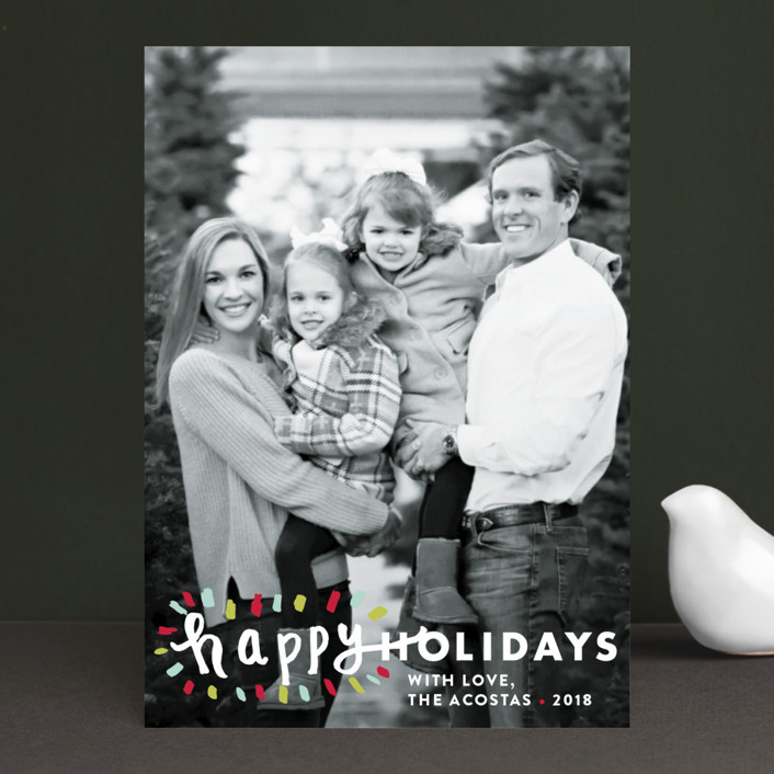 """Holiday Burst"" - Holiday Photo Cards in Glacier by Abby Munn."