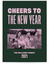 This is a green holiday photo card by Annie Clark called The Fillmore with standard printing on smooth signature in standard.