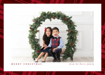 Plaid framed Holiday Photo Cards By Lea Delaveris