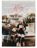 This is a red holiday photo card by Lauren Chism called Jubilantly with standard printing on smooth signature in standard.