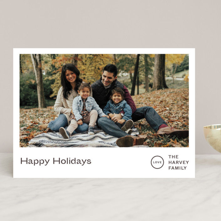 """Punched"" - Holiday Photo Cards in Chestnut by Jack Knoebber."