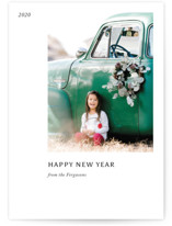 This is a black and white holiday photo card by Jack Knoebber called Leaflet with standard printing on smooth signature in standard.