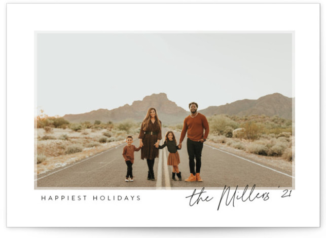 Softly Framed Holiday Photo Cards