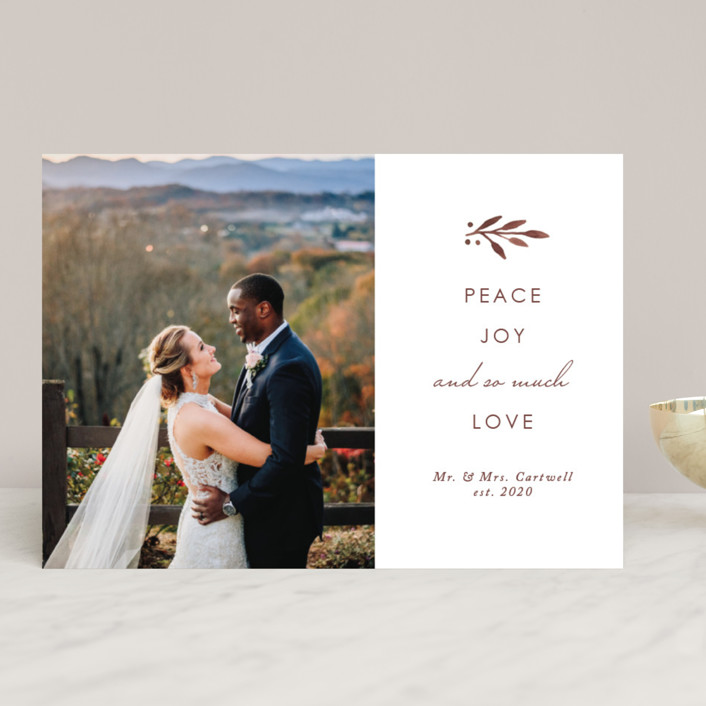 """""""So Much Love"""" - Holiday Photo Cards in Balsam Fir by Kelly Nasuta."""