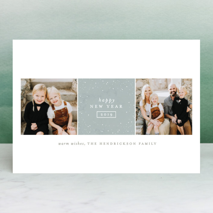 """""""Sparkling Be Merry"""" - Holiday Photo Cards in Cherry by Carolyn Nicks."""