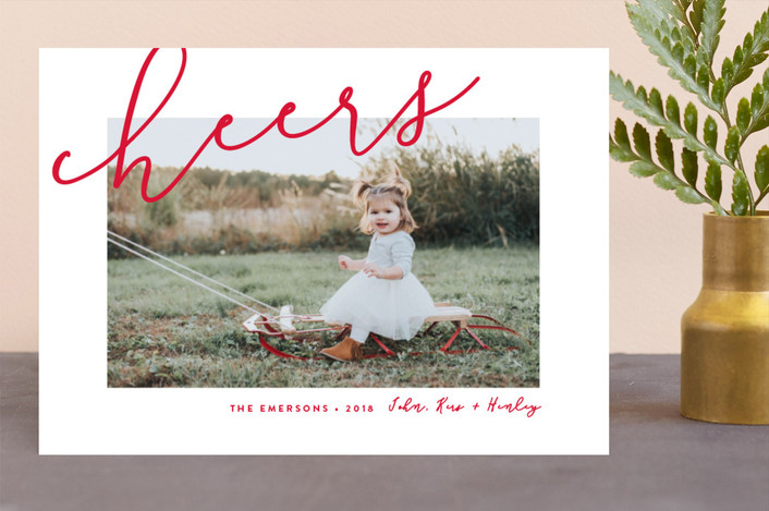 """Fresh Air"" - Holiday Photo Cards in Holly Berry by Erica Krystek."